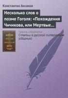Несколько слов о поэме Гоголя: «Похождения Чичиков